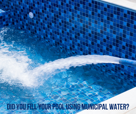 Did you fill your pool using Municipal Water