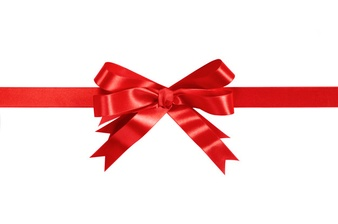 red gift ribbon and bow isolated on white 1101 2248